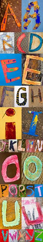 l'alphabet de l'école