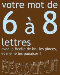 Kit Accrochage 3 A 5 Lettres L Alphabet Oublie